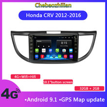 10.1 inch button screen Android 9.1 Car GPS Navigation For Honda CRV 2013-2016 With Stereo Audio multimedia player Radio Video(China)