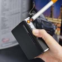 Чехол для прикуривателя с Беспламенной съемной электронной зажигалкой