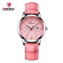 Top Luxury Brand CHENXI Watches Leather Strap Quartz Wristwatches Womens