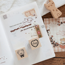 Annie Diary Series wooden rubber stamps for scrapbooking stationery DIY scrapbooking standard wood stamp 12 pcs set cute wooden box diary stamp set wood stamps for kids decor diary diy scrapbooking rubber stamp letters