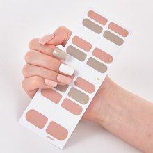 22 dicas/folha pura cor sólida design minimalista completo beleza designer decalques do prego nailart adesivo para unhas adesivos