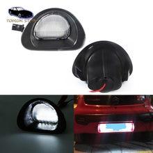 2 шт. белый светодиодный светильник заднего номерного знака для Peugeot 107 2005-2014 CITROEN C1 2005-2013