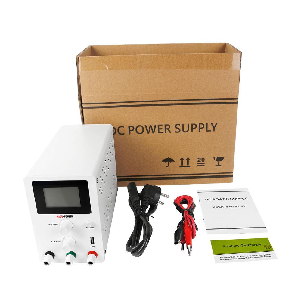 LCD Screen DC Lab Bench Power Supply 30v 10a 60v 5a Adjustable Switching Bench Source Digital Voltage Regulator 0.001A 120V 3A-5