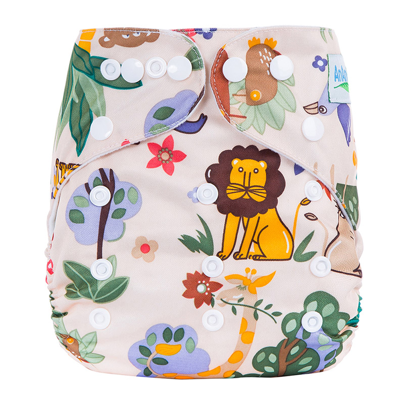 Modern Cotton Baby Cloth Diaper Nappies Wholesale Reusable Baby Diaper Nappies Fitted 3-15kg For Baby L5