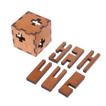 Cubo suizo de madera para niños, rompecabezas secreto, juguete rompecabezas, XX9F
