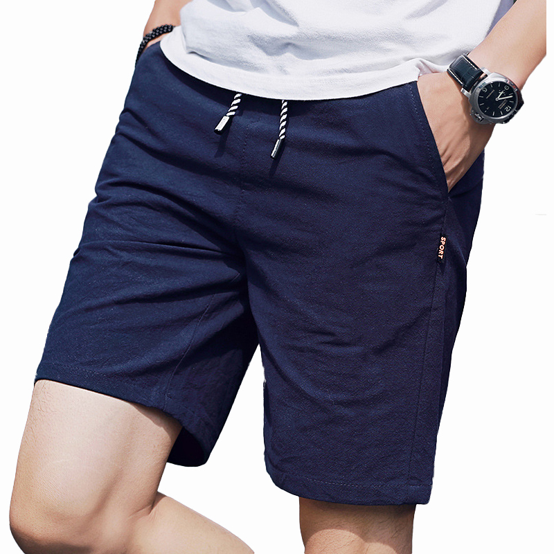 Shorts Men 2019 Casual Summer Beach Shorts Mens Bermuda Cotton Breathable Trousers Homme Board Shorts For Male Bermuda Masculina