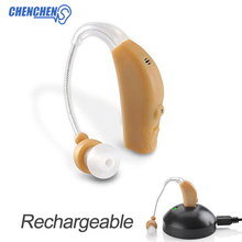 Low Noise Hearing Sound Amplifier BTE Rechargeable Hearing Aid For Elderly Deaf Audifono