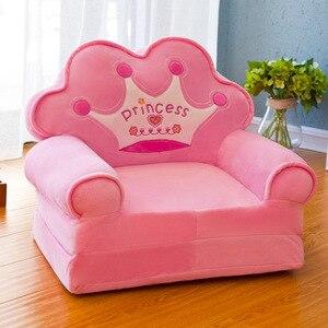 Disassembled Washed Kids Sofa Fashion Children Sofa Folding Cartoon Cute Baby Mini Sofa Kindergarten Baby Seat Sofa with Filling
