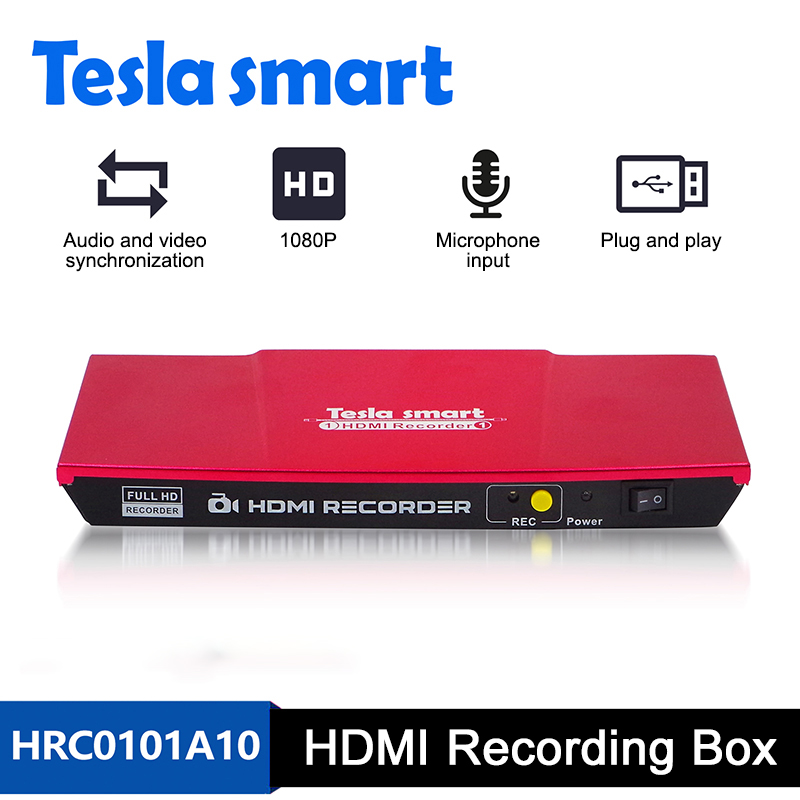 1080P HDMI Recorder Support L/R Audio Output HD Video Storage Support Xbox PS4 Game Recording Button Control Video Commentary