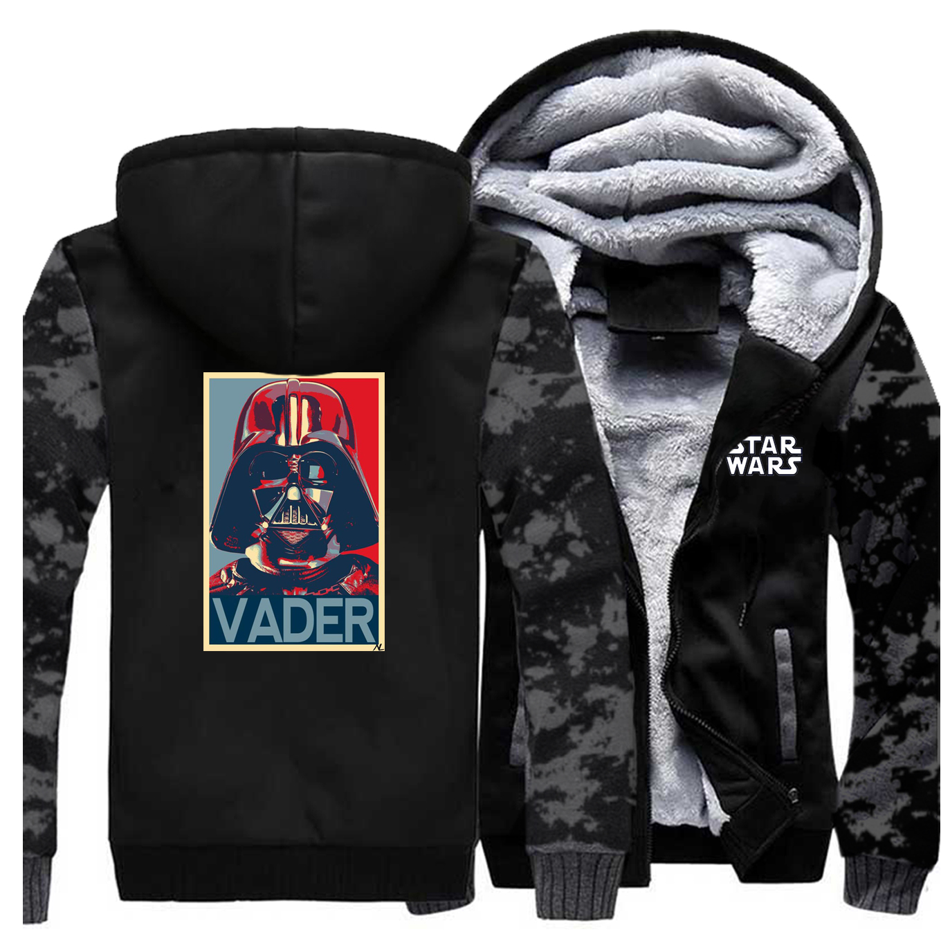 US $22.68 44% OFF|Darth Vader Star Wars Stormtrooper Funny Men print hoodie New Fashion Hip Hop Pullover Winter Jacket Sweat Homme Coats in Hoodies &