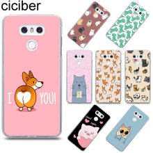 Ciciber Corgi แมวสำหรับ LG G6 G7 V20 V30 V35 V40 THINQ Soft Case สำหรับ LG K8 K7 k10 K4 2017 2018 K9 K11 PLUS Case TPU(China)