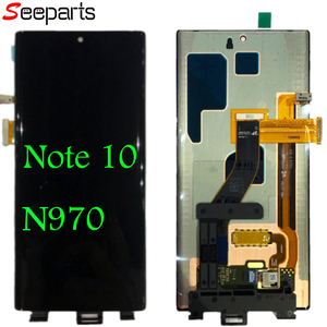 "Image 1 - 6.3 ""Amoled do Samsung Note 10 LCD Note10 wyświetlacz Lcd montaż digitizera ekranu dotykowego do Samsung N970F N970U N970N N9700/DS lcd"