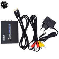 Adaptador de conmutador compuesto para TV y PC, HDMI-Compatible con AV s-video, conversor de vídeo CVBS HD 3RCA PAL/Switch NTSC HDMI a SVIDEO