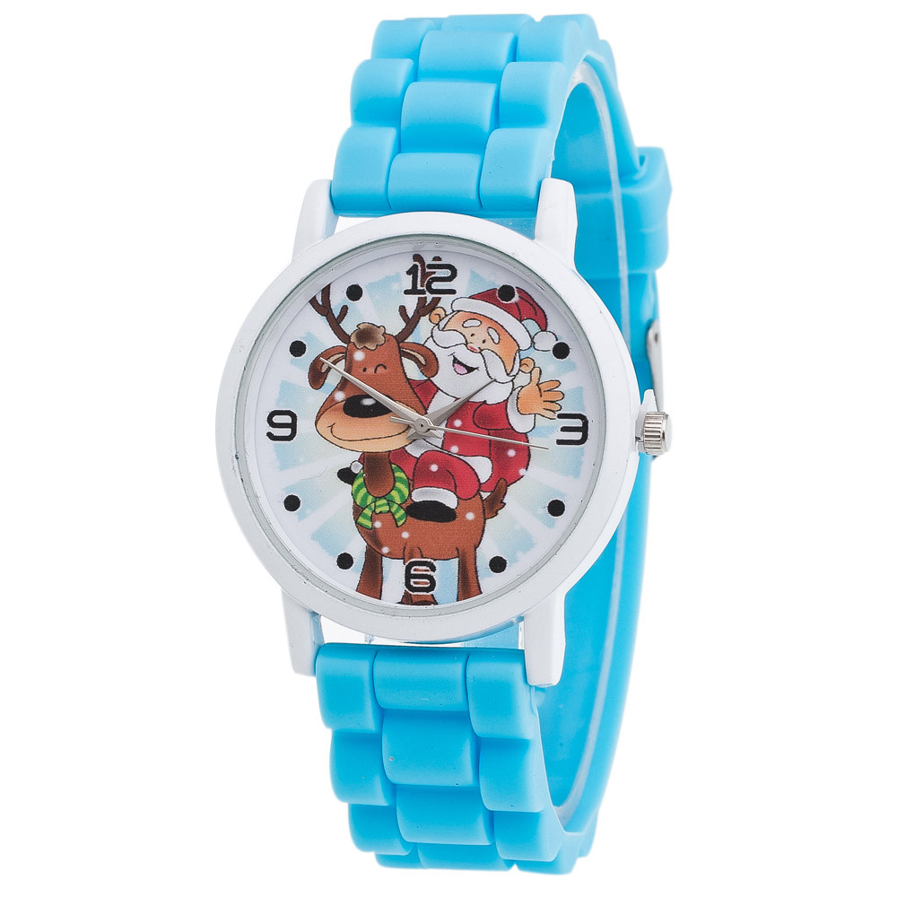 OTOKY2019 New Children Christmas Gifts Boys Girls Students Color Silicone Strap Wrist Watch Dropshiping