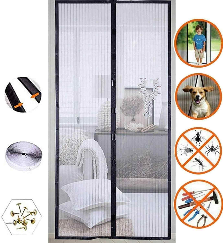 Cortina de puerta de Malla Mosquitera magnética de casa de verano Bug Insecto Mosquitero Cortinas