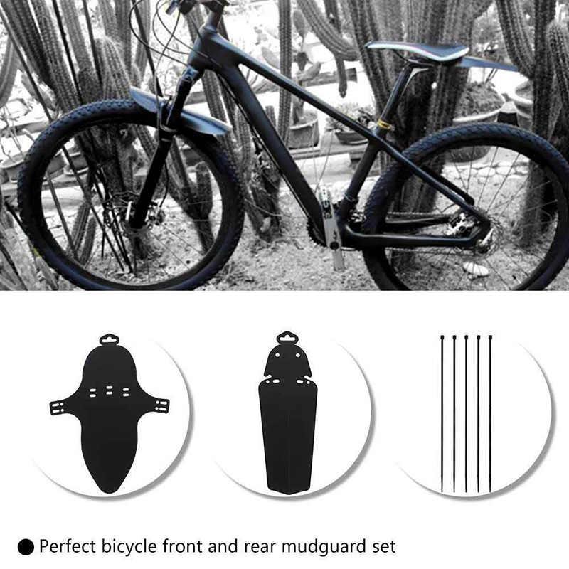 1 زوج دراجة البلاستيك واقيات الطين دراجة هوائية جبلية المصدات مجموعة واقيات الطين دراجة واقيات الطين للدراجات الجبهة والخلفية المصدات