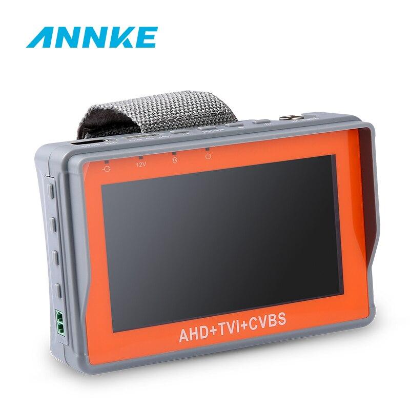 ANNKE 4,3 дюйма 1080P CCTV тестер AHD CVI TVI аналоговый CVBS в 1 Anolog камера тестирование PTZ UTP Кабельный тестер 12V1A выход