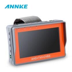 Annke 4.3 Pollici 1080P Cctv Tester Ahd Cvi Tvi Analogico Cvbs in 1 Anolog Fotocamera Testing Ptz Utp Cavo tester 12V1A di Uscita