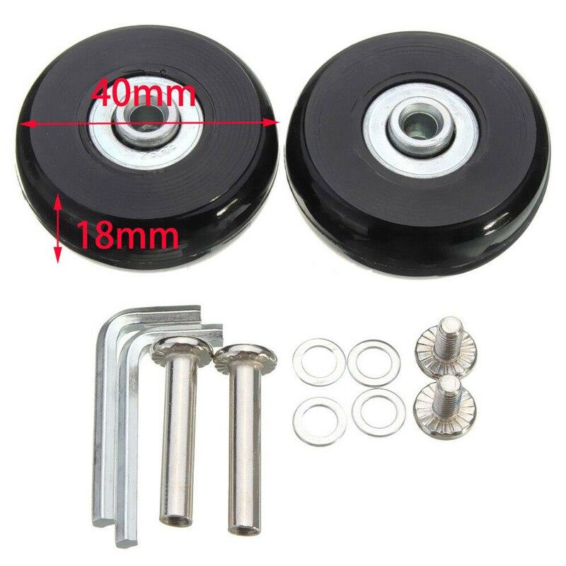 2 pces preto bagagem saco mala substituição rodas de borracha eixos reparação acessórios sem rodízios od 40mm/54mm/60mm/64mm/80mm-1