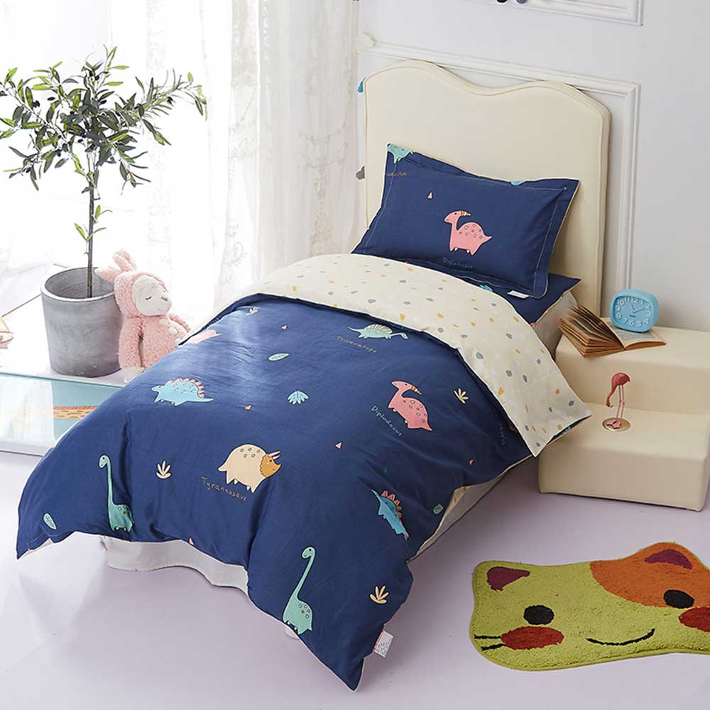 3Pcs Baby Bedding Sets Children Quilt Cover Mattress Pad Pillow Case 100% Cotton Cartoon Printed Kids Bed Bedding Set