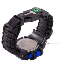 QMXD Men's Sports Waterproof Luminous Watch Thermometer Compass Whistle Field Survival Braided Bracelet Electronic Smart Watch все цены