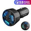 Автомобильное зарядное устройство TKEY QC 3,0 с 3 USB-портами, универсальное зарядное устройство для телефона, быстрая зарядка в автомобиле для ...