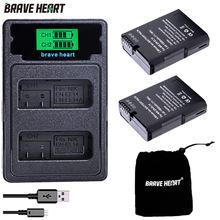 2 batteries ENEL14 EN EL14 EL14a, EN-EL14 EN-EL14a, 2 pièces, avec double chargeur LCD USB pour Nikon D3100 D3200 D3300 D5100 D5200 D5300 P7000