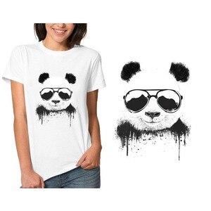 Нашивки «панда учитель», «сделай сам», нашивки на одежду, Термотрансферная печать, наклейки для одежды, футболок, Аппликации, моющиеся для т...