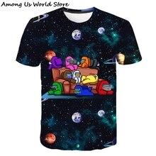 T-Shirt Kids Tops Graphic Game-Among Funny Girls Boys 12-Years Children Summer Cartoon