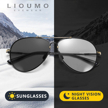 LIOUMO 2020 Pilot Sunglasses Men Polarized Driving Glasses Women Photochromic Oversized Eyewear Memory Metal Frame gafas de sol