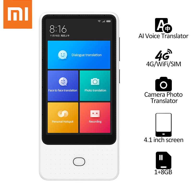 Xiaomi Mijia AI traducteur de voix écran tactile 4G/WiFi/SIM bluetooth caméra en ligne traducteur de Photo traducteur multilingue