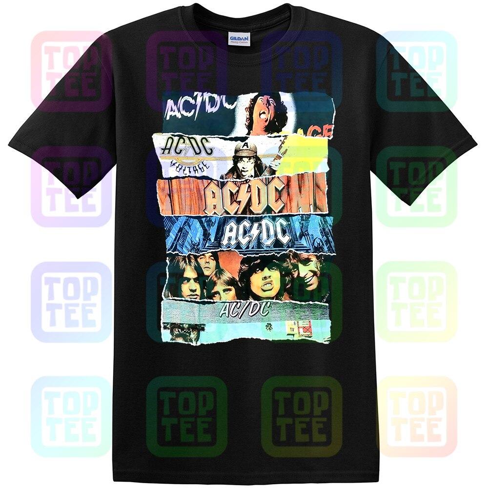 ACDC Vintage Black Concert Rock Band Shirt
