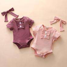 Infant Girls Bodysuits No Sleeve Baby Clothes Summer Newborn Kawaii Outfit Short sleeve Daddy Cute Gift New