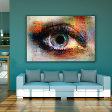 Abstract Art Colorful Eye Canvas Painting Wall Pictures For Living Room Printed On Modern Decorative