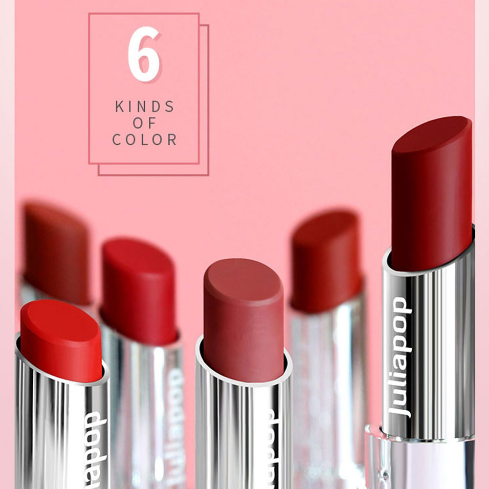 Waterproof Matte Lipstick Makeup Professional Long Lasting Red Lip Tint Matte Lipstick Shimmer Lip Woman Korean Cosmetic Beauty 4