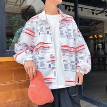Mens Individual Printed Jacket Spring and Autumn 2019 Clothing New Student
