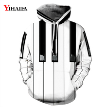 Mens Womens 3D Hoodies Personality Music Piano Graphic Printed Sweatshirt Casual Coat Pullover Tracksuit Outerwear Tops zip front crop graphic pullover