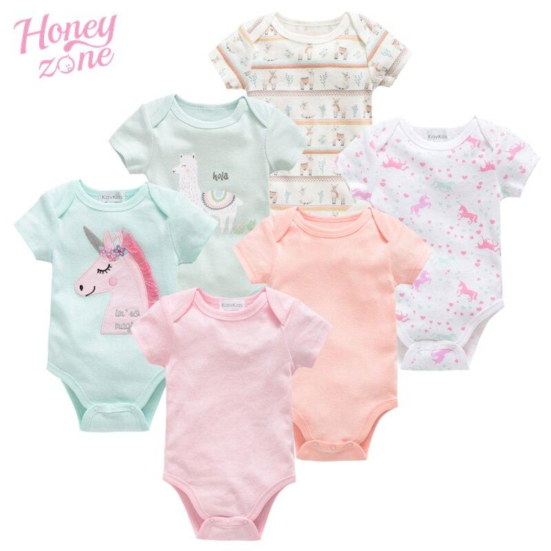 Honeyzone Body Baby Boy Girl Clothes Cotton Short Sleeve Baby Girl Clothes Set Ropa Bebe O-Neck Newborn Baby Bodysuit Body Bebes