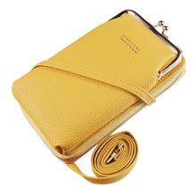 2020 carteira feminina cor sólida pequena bolsa de ombro multi-função carta telefone dinheiro carteiras sacos de bolso organizador de embreagem armazenamento