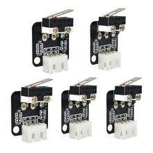 Interruptor de límite de 3 pines para impresora 3D, Control N/O/C, Micro interruptor, accesorios para impresora CR-10, serie Ender 3, 5 unids/lote