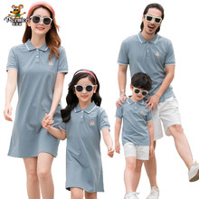 Family LooK Mother Daughter Dresses Summer Father Son T-Shirts Short Pants Men Boy Family Matching Clothes Women Girl Dress summer family look clothes boy t shirts mother