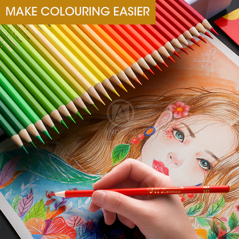 Andstal 48/72/120/160/180 Professional Oil Color Pencil Set Watercolor Drawing colored pencils wood colour coloured pencils kids 5