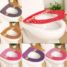 Cute Toilet Seat Cover Soft Universal Washable Lid Pad Warmer Mat Bathroom Reusable Bathroom Product