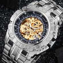 Luxury Automatic Mechanical Watch Men Full Steel Silver Gold
