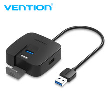 Vention Multi USB 3.0 Hub 4 Ports HUB USB 3.0+3 USB 2.0 Splitter Switch for Macbook Pro with Micro USB Power Port for Huawei P20(China)