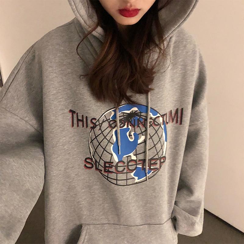 plus size harajuku hoodie winter clothes women korean style streetwear oversize sweatshirt Casual Pullovers tops 1