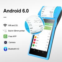 Android Data POS Terminal PDA Barcode Camera Reader 1D 2D QR Scanner Wireless Bluetooth Wifi function Built in Thermal Printer