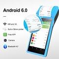 Android POS Терминал КПК Штрих-Кода Камера Считывания 1D 2D QR-Сканер Беспроводная Связь Bluetooth Wi-Fi функция Встроенный Термопринтер