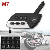 מכשיר הקשר Bluetooth V5.0 אינטרקום אופנוע קסדה אוזניות M7 Multi BT אלחוטית מכשיר הקשר 800 סטריאו Interphone Headset לקבלת 5 Rider (1)