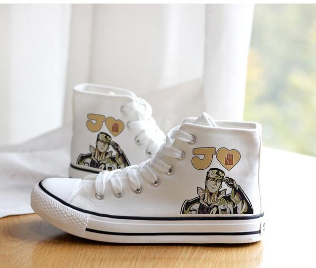 Unisex Anime Cosplay VENTO AUREO Goldenwind Canvas Shoes plimsolls Duck Shoes 4